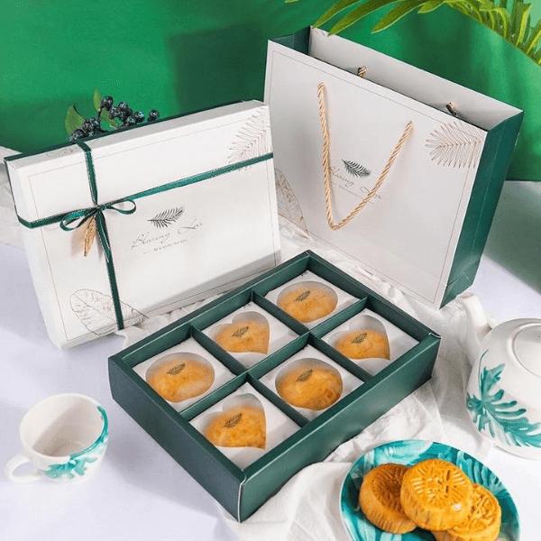 Mẫu túi - hộp bánh trung thu Xanh