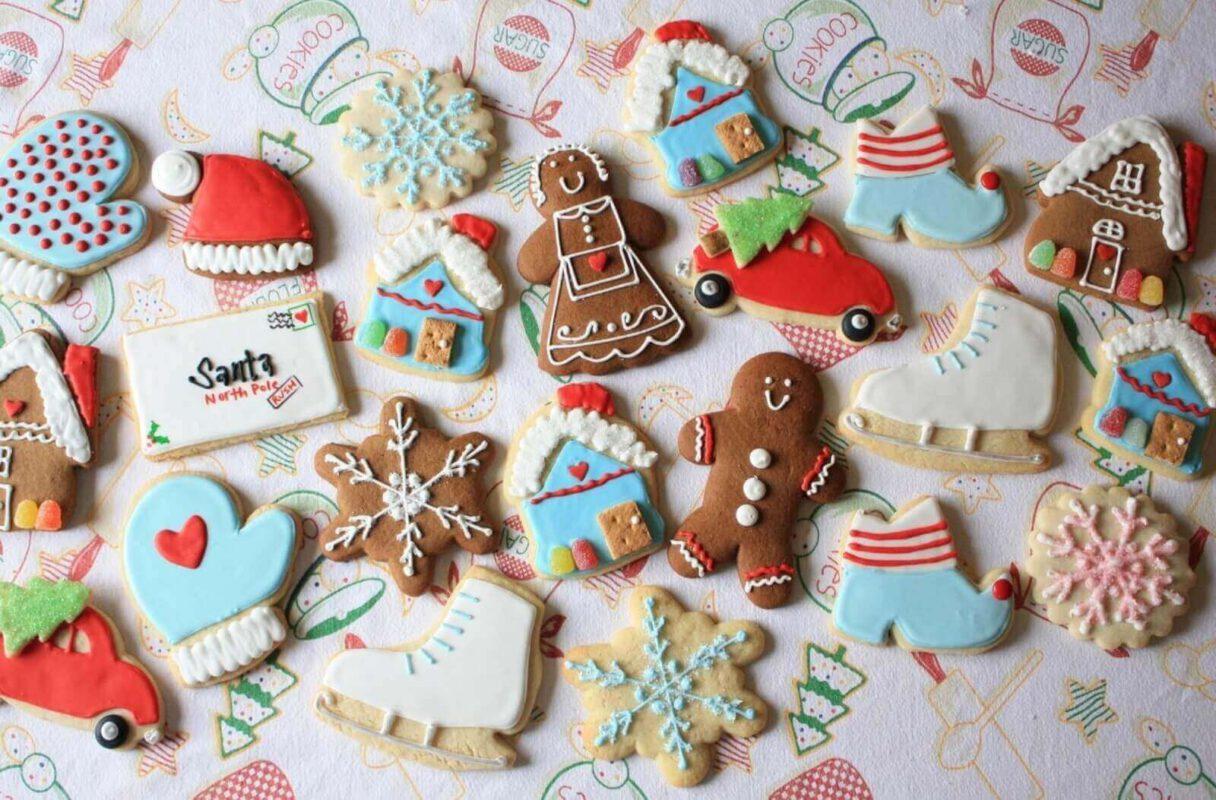 Các loại bánh kẹo giánh sinh - hộp quà noel dễ thương tặng bé