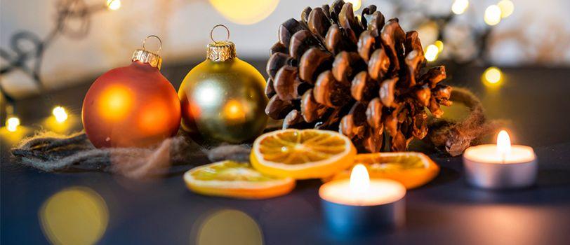 Tặng quà Giáng sinh bằng nến thơm handmade
