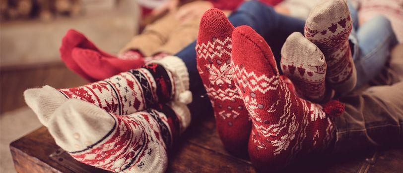 Tất mang họa tiết Giáng sinh