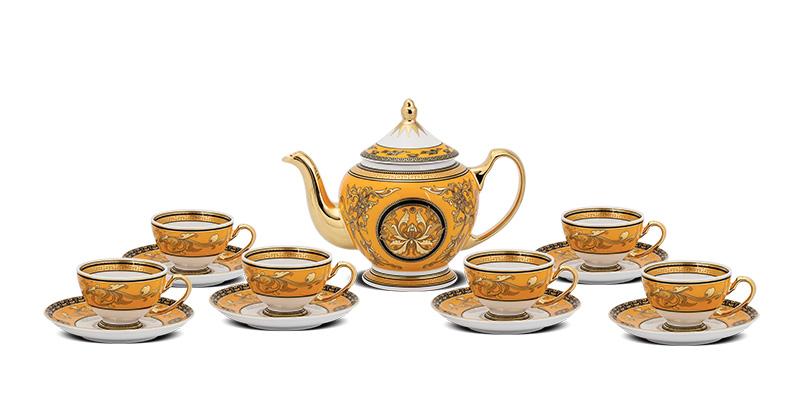 Bình trà Minh Long Hoàng Cung Hoàng Bào