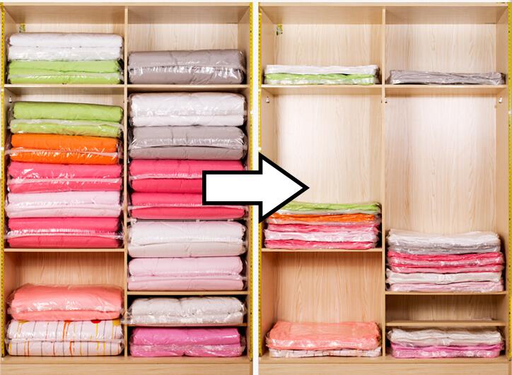 Bọc hút chân không giúp giảm diện tích cất trữ đồ đạc
