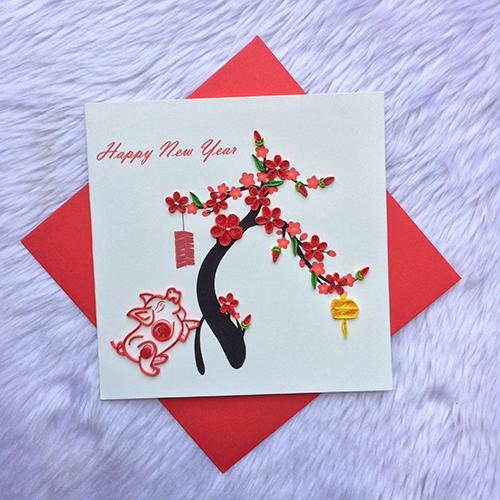 Thiệp Tết handmade