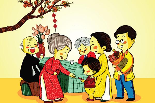Người Việt thường bỏ vào phong bao đỏ nhiều tờ tiền mới màu đỏ với mong khỏe mạnh, may mắn...