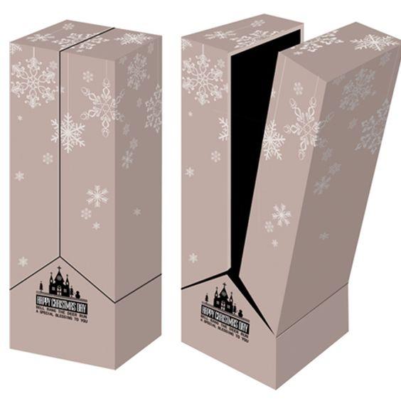 Hộp đựng rượu vang bằng giấy vào dịp giáng sinh