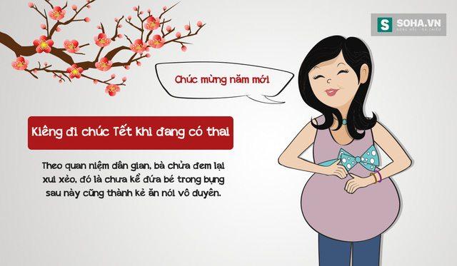 Phụ nữ mang thai không nên đi chúc Tết
