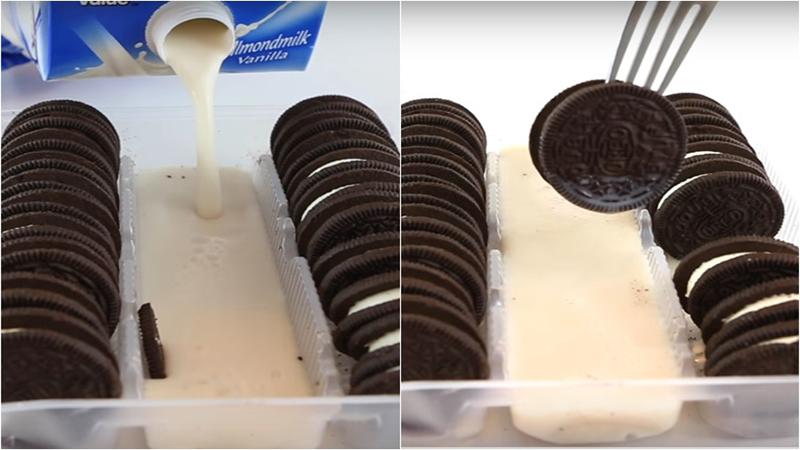 Nhúng bánh quy Oreo vào sữa