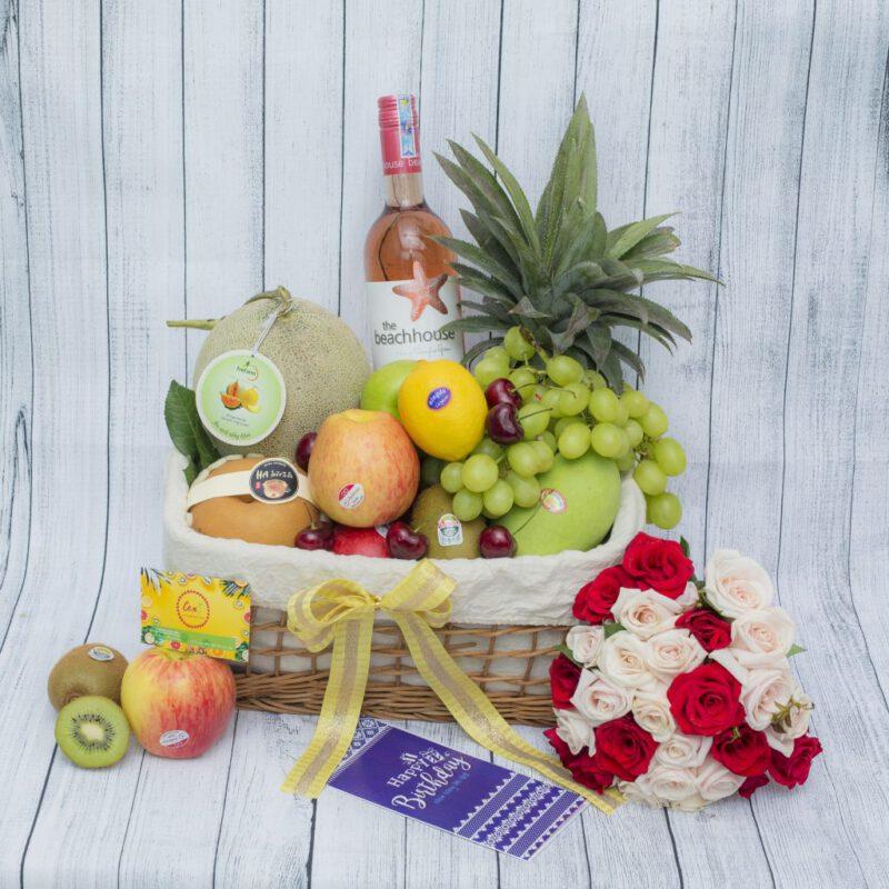 Cách gói giỏ hoa quả đẹp-Trang trí giỏ trái cây thật tinh tế